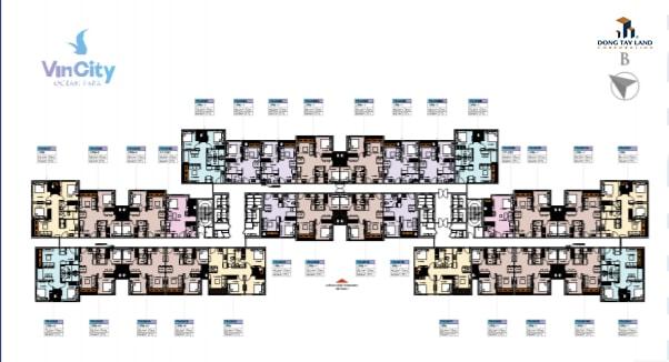 Mặt bằng tầng điển hình tòa U