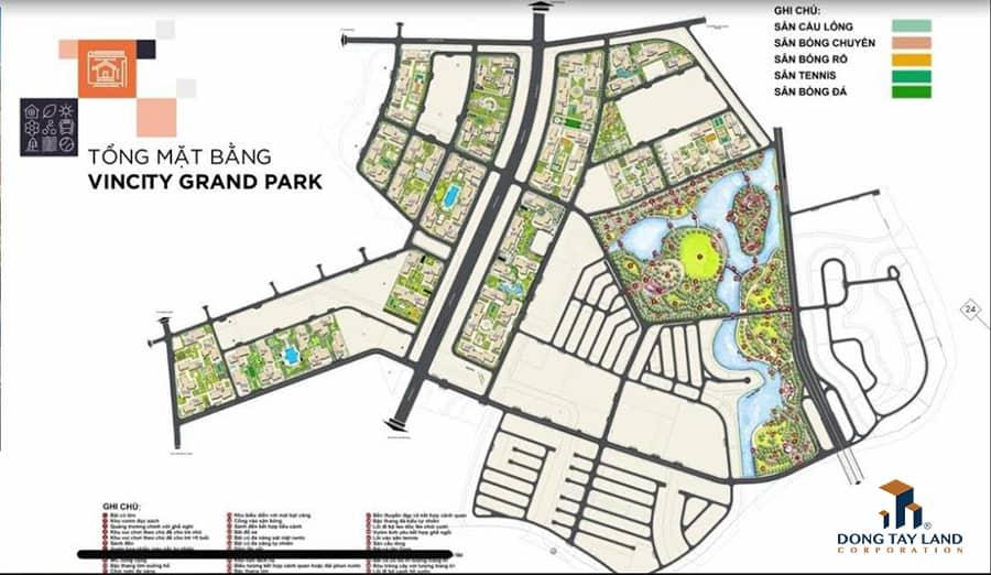 Tổng quan mặt bằng dự án VinCity Grand Park quận 9