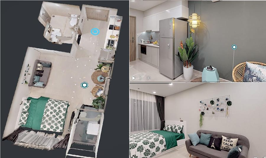 Hình ảnh 3D căn hộ 1PN