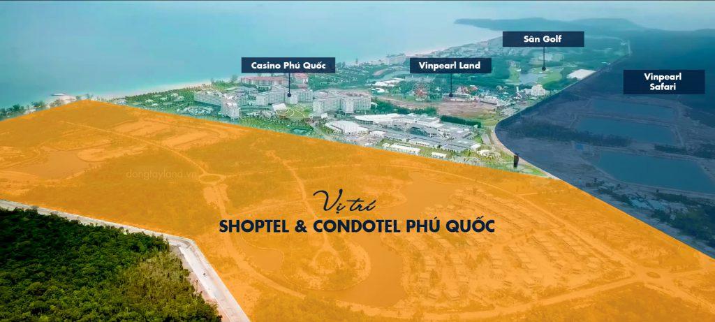 Vị trí shoptel và condotel phú quốc
