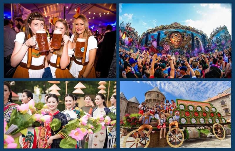 Lễ hội đa phong cách hấp dẫn người du lịch.