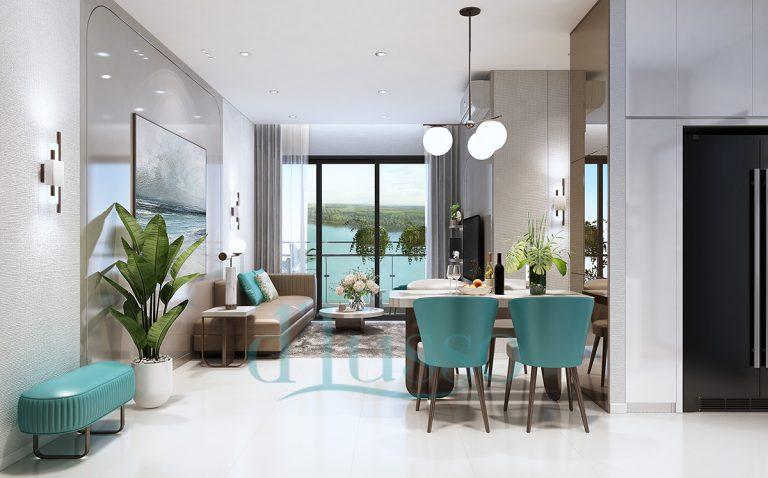 Thiết kế phòng khách dự án D'Lusso