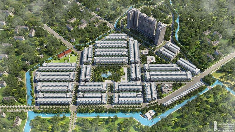 Phối cảnh tổng thể dự án đất nền nhà phố QI I
