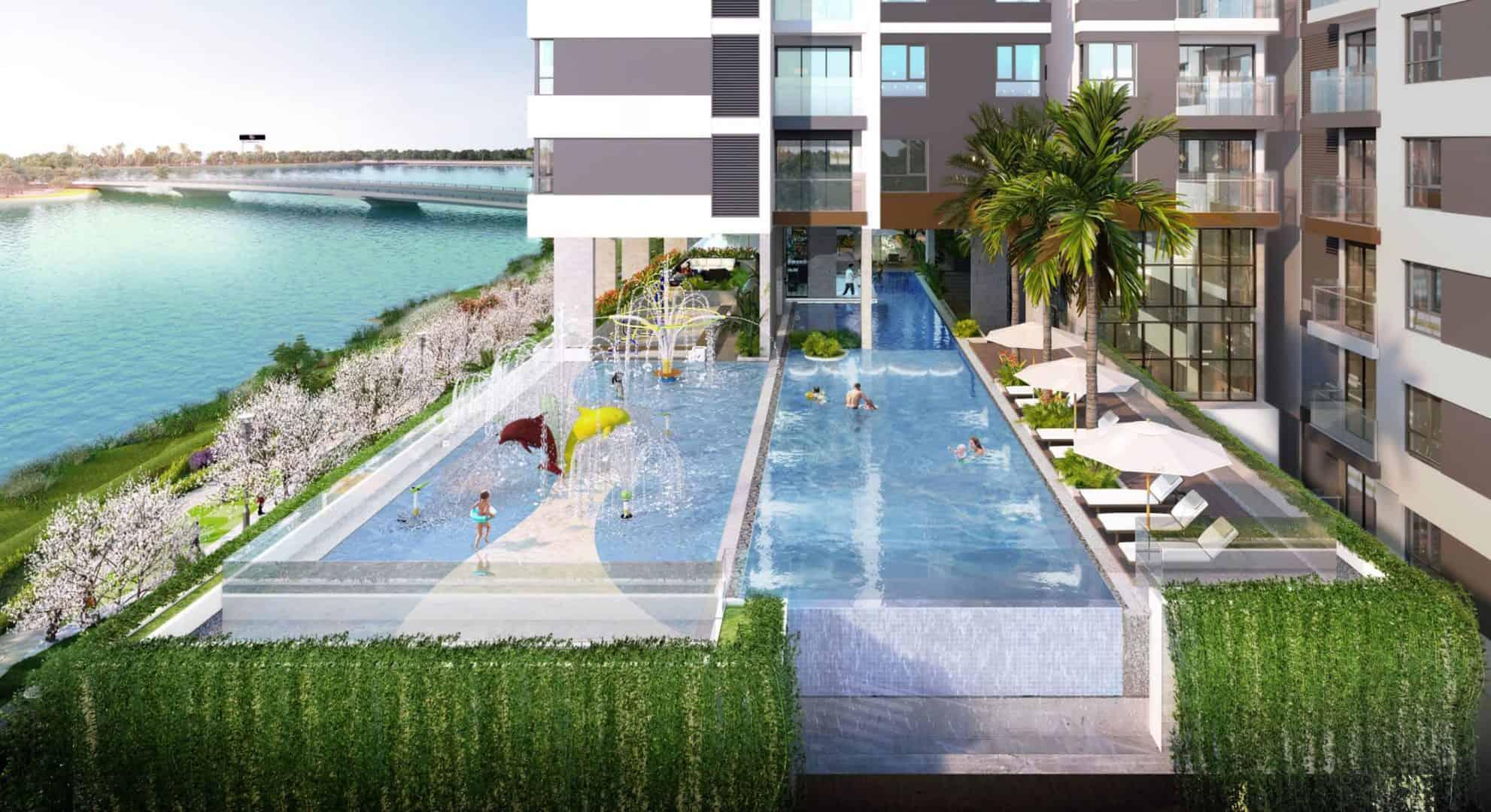 Toàn cảnh Hồ Bơi vô cực dự án D'Lusso