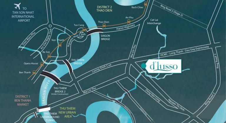 Sơ đồ vị trí dự án  D'Lusso Emerald  Quận 2