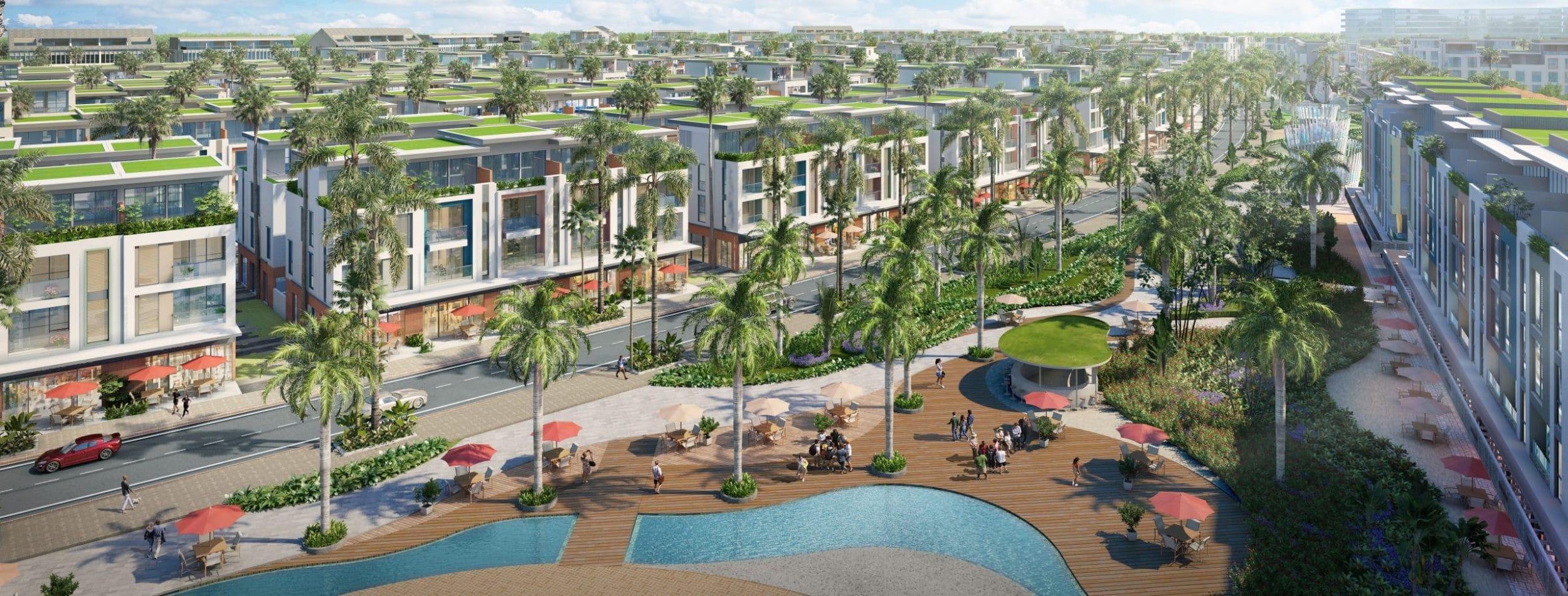 Phối cảnh tuyến phố dự án Meyhomes Capital Phú Quốc