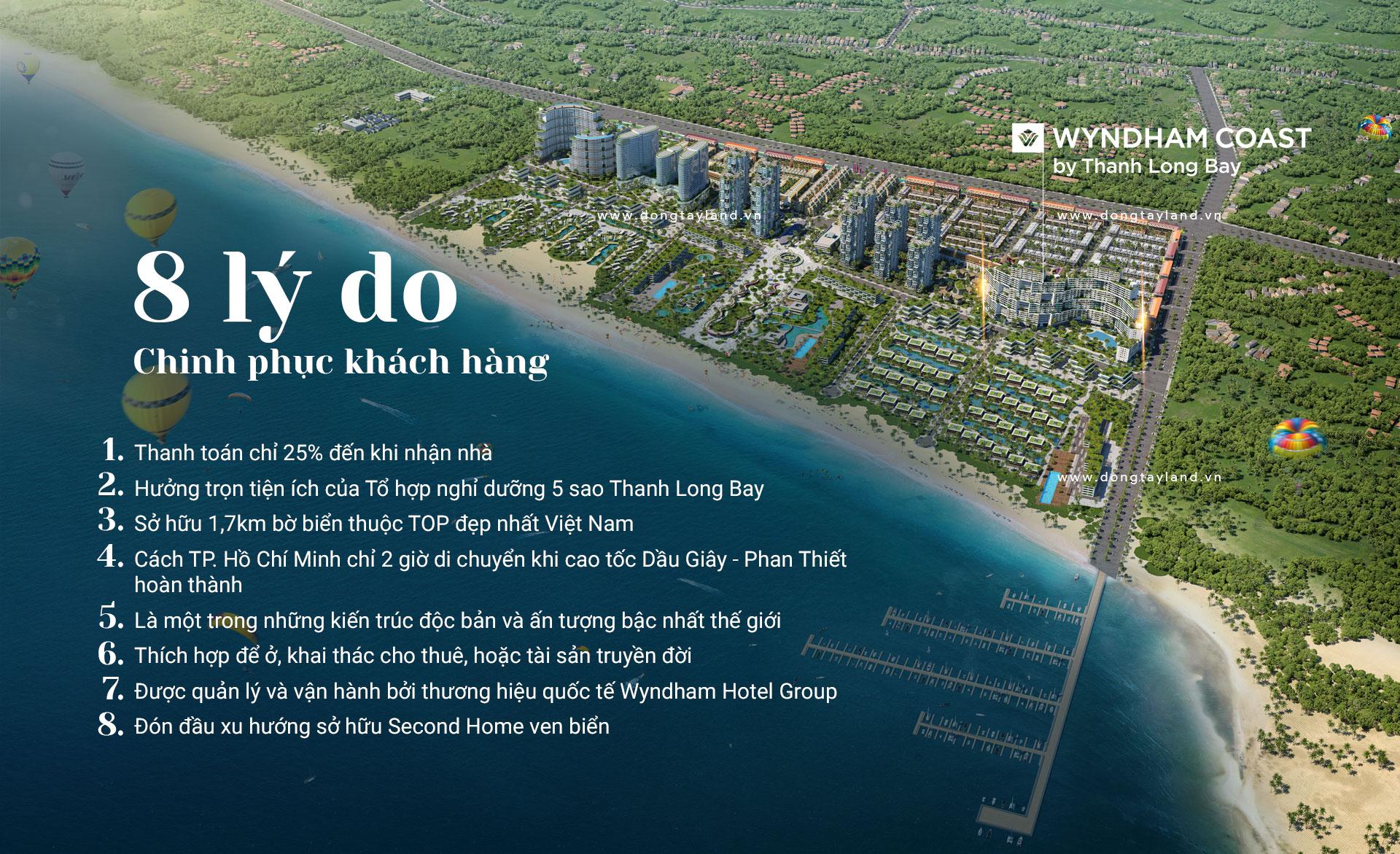 Lý do lựa chọn căn hộ Wyndham Coast by Thanh Long Bay