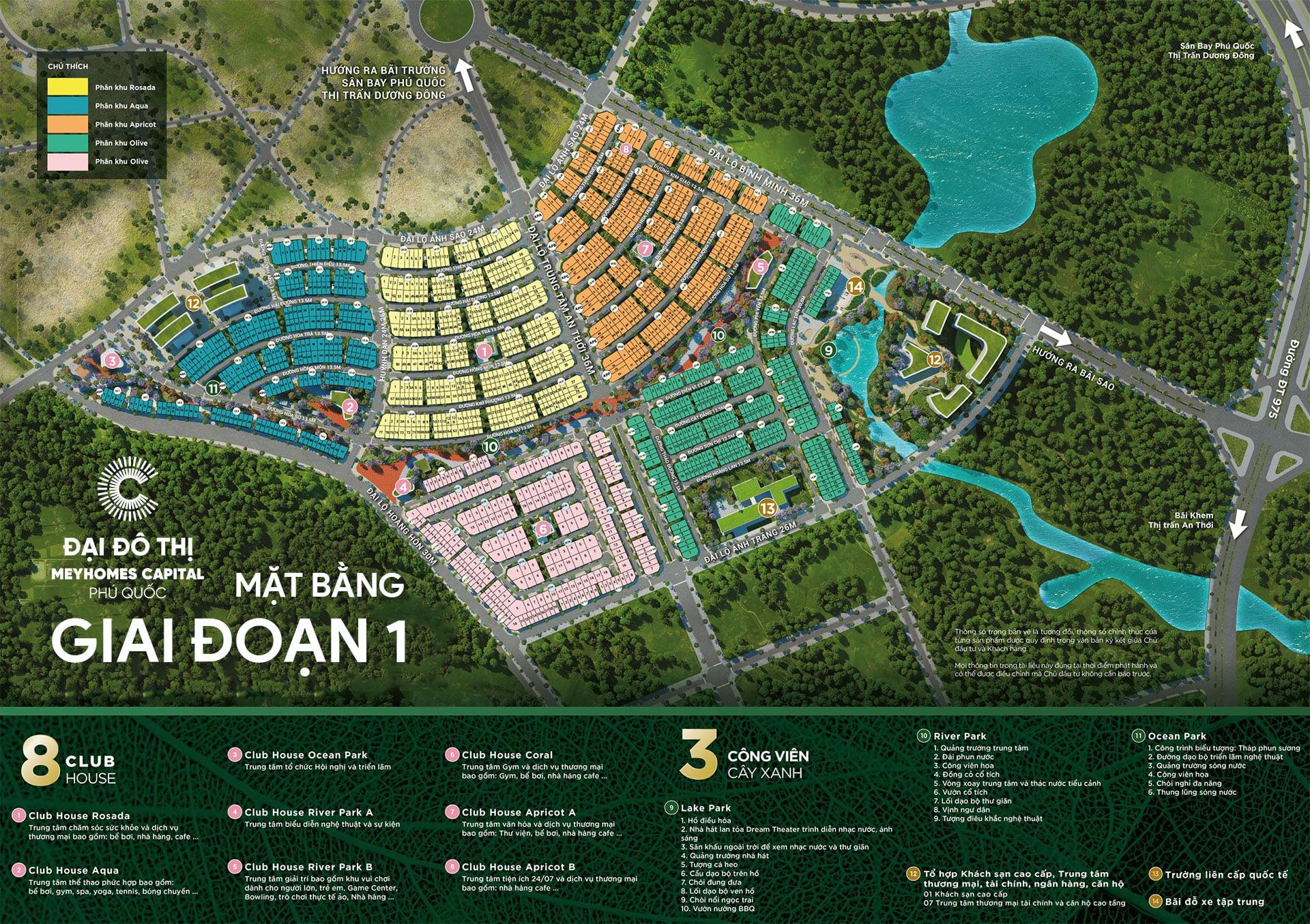 Mặt bằng tổng thể Meyhomes Capital Phú Quốc giai đoạn 1