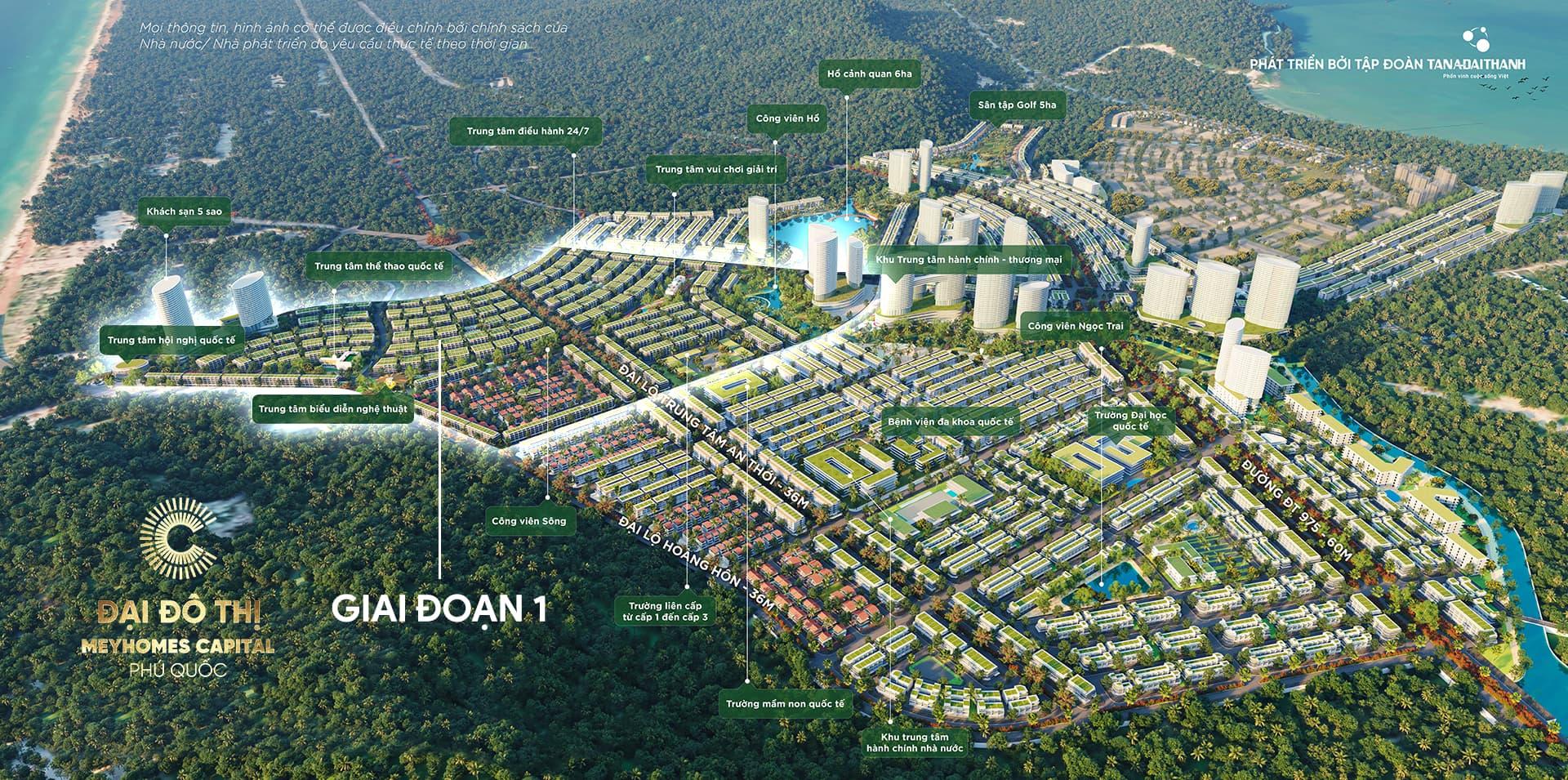 Phối cảnh tổng thể đại đô thị Meyhomes Capital Phú Quốc