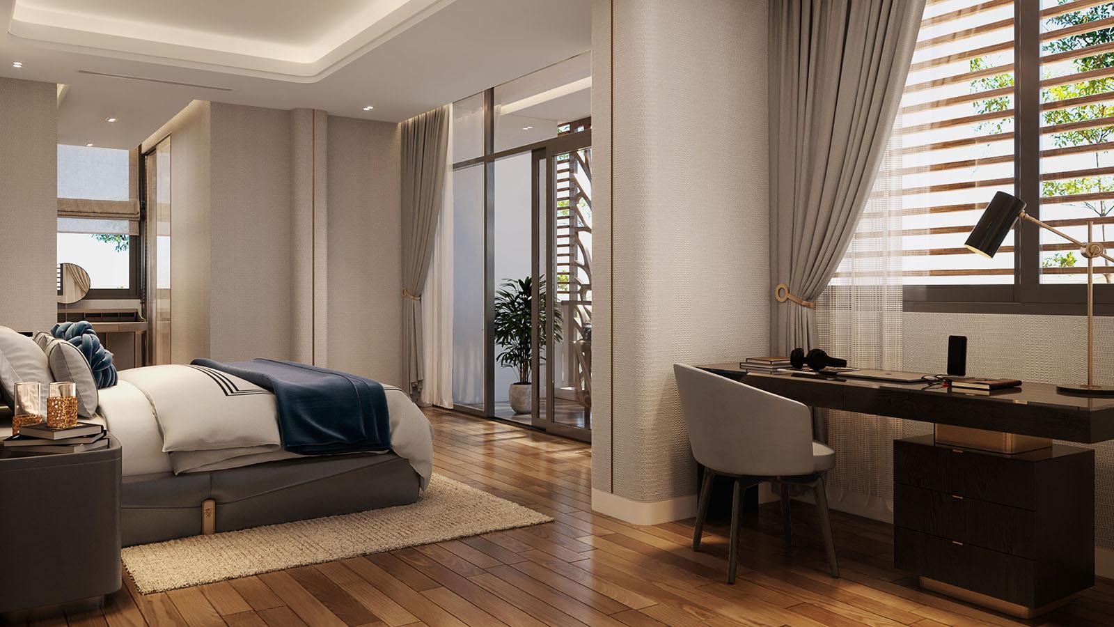 Nội thất biệt thự Meyhomes - Phòng ngủ