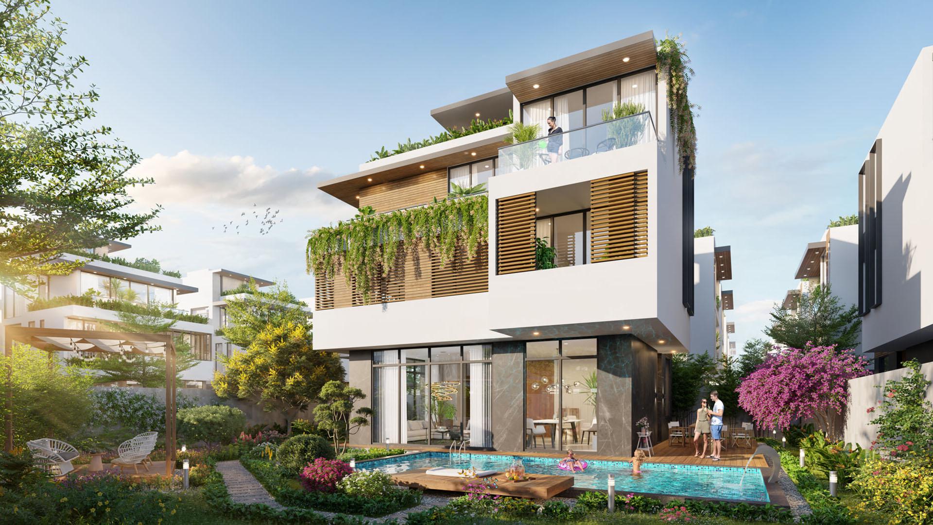 Phối cảnh Biệt thự Coral Hawaii - Meyhomes Capital Phú Quốc